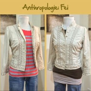 Anthro Cotton Jacket by Fei